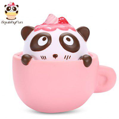 SquishyFun PU Slow Rising Simulate Cute Panda Coffee Cup Toy