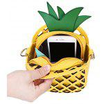 Guapabien Cut Out Pineapple Shaped Chain Crossbody Bag - YELLOW + GREEN