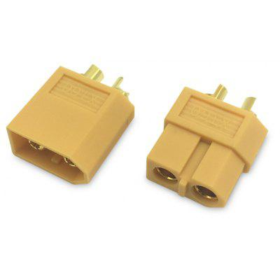 2PCS XT60 Male + Female Bullet Copper Connector Plug