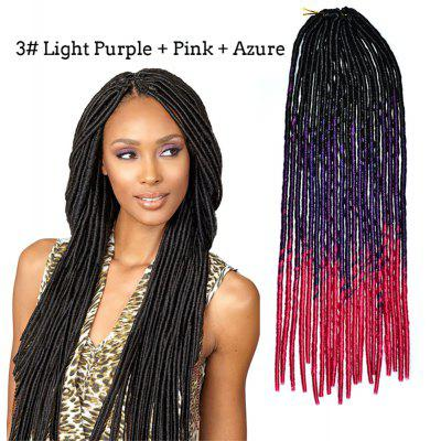 Mulheres Braids Dreadlock Gradient Synthetic Hair Extension