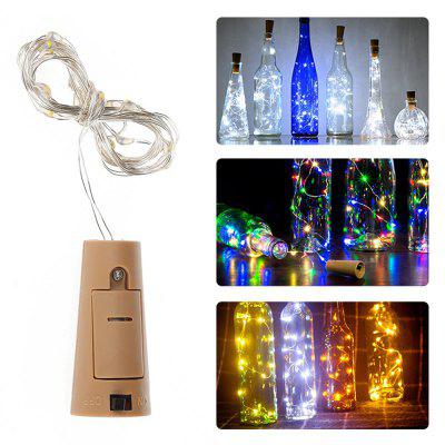 2M 20 LEDs Cork Shape Wine Bottle Copper Wire Light String olafur arnalds cork