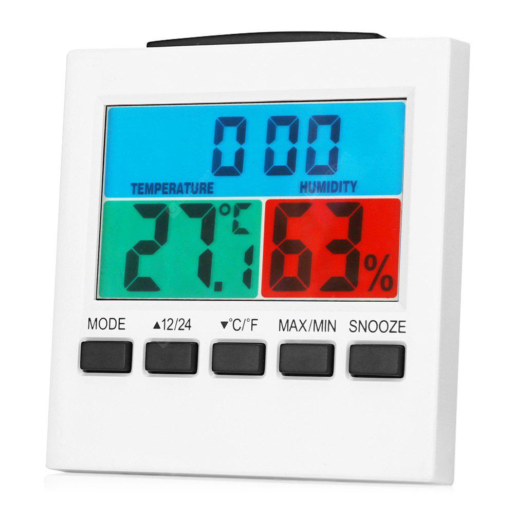 Lcd Thermometer Hygrometer Digital Alarm Clock Desk 938 Multifunction And With Free Shipping