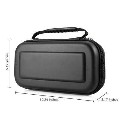 Hard Pouch Travel Case for SwitchGame Accessories<br>Hard Pouch Travel Case for Switch<br><br>Package Contents: 1 x Game Pouch, 1 x Temperted Glass Screen Protector<br>Package Size(L x W x H): 29.50 x 14.00 x 6.00 cm / 11.61 x 5.51 x 2.36 inches<br>Package weight: 0.2950 kg<br>Product weight: 0.2200 kg