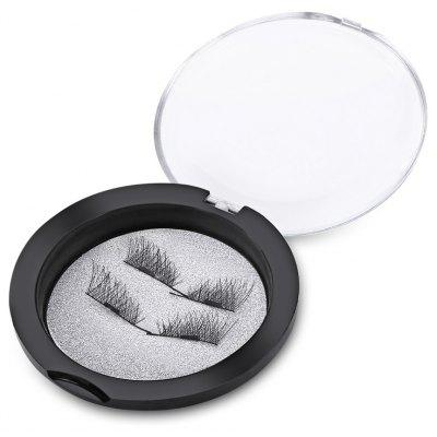 2 Pairs Beauty Natural Magnet Handmade Thick Cross False Eyelashes Extension