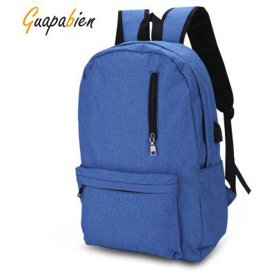 Guapabien USB Charge Port Cable Laptop Travel Bag BackpackBackpacks<br>Guapabien USB Charge Port Cable Laptop Travel Bag Backpack<br><br>Feature: Stocked<br>Form: Separate<br>Materials: Polyester, Oxford, Canvas<br>Package Content: 1 x Backpack<br>Package size (L x W x H): 16.00 x 8.00 x 23.00 cm / 6.3 x 3.15 x 9.06 inches<br>Package weight: 0.5650 kg<br>Pattern: Solid<br>Product size (L x W x H): 31.00 x 14.00 x 46.00 cm / 12.2 x 5.51 x 18.11 inches<br>Product weight: 0.5400 kg