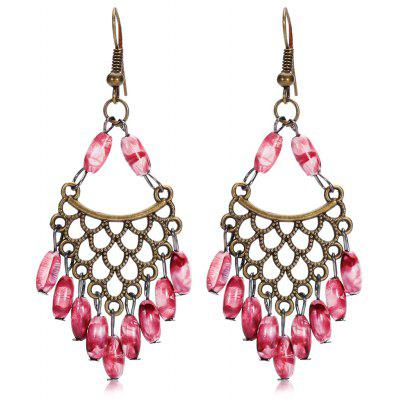 Buy SANGRIA Bohemian Hollow Out Bead Alloy Women Drop Earrings for $1.98 in GearBest store