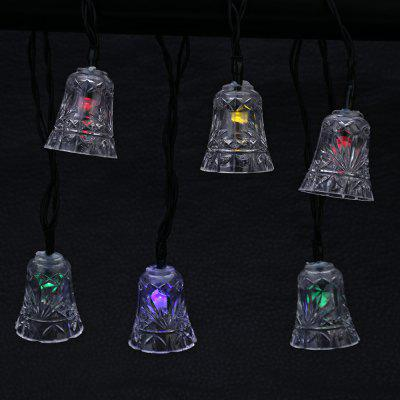 Solar Powered 20 LEDs Jingle Bell Shape String LampLED Strips<br>Solar Powered 20 LEDs Jingle Bell Shape String Lamp<br><br>Package Contents: 1 x String Lamp with Solar Panel, 1 x Anchor Spike, 1 x English Manual<br>Package Size(L x W x H): 18.50 x 10.00 x 8.50 cm / 7.28 x 3.94 x 3.35 inches<br>Package weight: 0.2900 kg<br>Product weight: 0.1960 kg