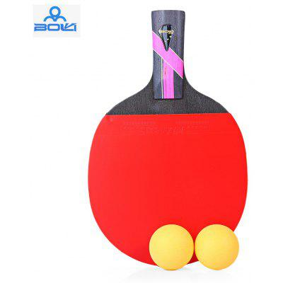 BOLI Three Star Table Tennis Ping Pong Racket Paddle with Ball