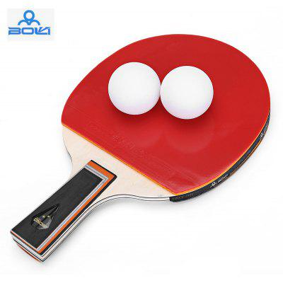 BOLI Two Star Table Tennis Ping Pong Racket Paddle with Ball