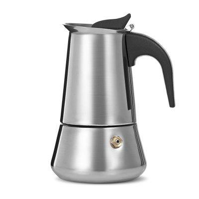 Stovetop Espresso Maker Stainless Steel Moka  Coffee PotCoffee &amp; Tea Sets<br>Stovetop Espresso Maker Stainless Steel Moka  Coffee Pot<br><br>Number of Users: 2<br>Package Contents: 1 x Espresso Maker<br>Package Size(L x W x H): 11.00 x 9.00 x 15.00 cm / 4.33 x 3.54 x 5.91 inches<br>Package weight: 0.4000 kg<br>Product Size(L x W x H): 8.50 x 8.50 x 13.50 cm / 3.35 x 3.35 x 5.31 inches<br>Product weight: 0.3000 kg