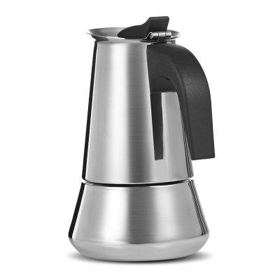 Stovetop Espresso Maker Stainless Steel Moka  Coffee PotCoffee &amp; Tea Sets<br>Stovetop Espresso Maker Stainless Steel Moka  Coffee Pot<br><br>Number of Users: 4<br>Package Contents: 1 x Espresso Maker<br>Package Size(L x W x H): 12.00 x 10.50 x 17.00 cm / 4.72 x 4.13 x 6.69 inches<br>Package weight: 0.5700 kg<br>Product Size(L x W x H): 9.50 x 9.50 x 15.00 cm / 3.74 x 3.74 x 5.91 inches<br>Product weight: 0.4500 kg