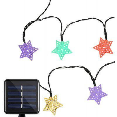 Buy RGB Solar Powered Waterproof 20 LEDs Iron Star String Light for $12.88 in GearBest store