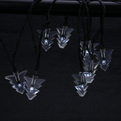 Solar Powered Waterproof 20 LEDs Xmas Tree String LightOutdoor Lights<br>Solar Powered Waterproof 20 LEDs Xmas Tree String Light<br><br>Is Bulbs Included: Yes<br>Is Dimmable: No<br>Light Source: LED Bulbs<br>Package Contents: 1 x String Lamp with Solar Panel, 1 x Anchor Spike, 1 x English Manual<br>Package Size(L x W x H): 15.00 x 9.50 x 8.50 cm / 5.91 x 3.74 x 3.35 inches<br>Package weight: 0.2800 kg<br>Product weight: 0.1920 kg<br>Style: Modern, Art Deco, Traditional, Novelty