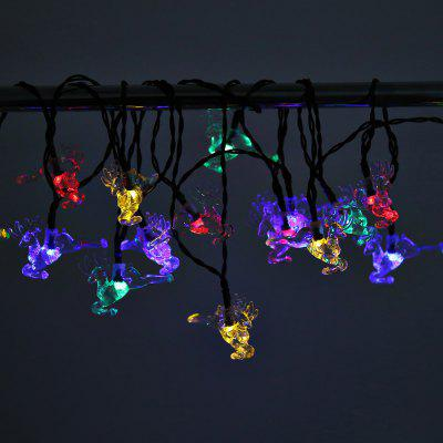 Solar Powered Waterproof 20 LEDs Fawn String LampLED Strips<br>Solar Powered Waterproof 20 LEDs Fawn String Lamp<br><br>Package Contents: 1 x String Lamp with Solar Panel, 1 x Anchor Spike, 1 x English Manual<br>Package Size(L x W x H): 15.00 x 10.00 x 9.00 cm / 5.91 x 3.94 x 3.54 inches<br>Package weight: 0.2930 kg<br>Product weight: 0.2080 kg