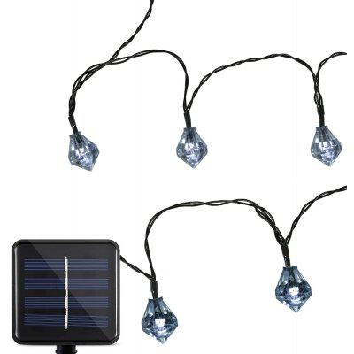Buy COOL WHITE LIGHT Solar Powered Waterproof 20 LEDs Diamond String Light for $12.25 in GearBest store