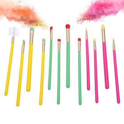 12pcs Colorful Eyeshadow Eyeliner Eyebrow Cosmetic BrushesMakeup Brushes &amp; Tools<br>12pcs Colorful Eyeshadow Eyeliner Eyebrow Cosmetic Brushes<br><br>Brush Material: Nylon<br>Handle Material: Wood<br>Package Content: 12 x Makeup Brush<br>Package size (L x W x H): 7.00 x 7.00 x 19.00 cm / 2.76 x 2.76 x 7.48 inches<br>Package weight: 0.1000 kg<br>Product weight: 0.0700 kg<br>Used With: Eye Shadow,Eyebrow Powder,Eyeliner