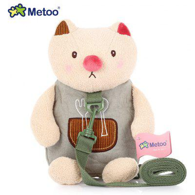 Metoo Tractive Backpack Stuffed Animal Cartoon Shoulder Bag Kids Doll Plush Children Toy for Kindergarten Girl