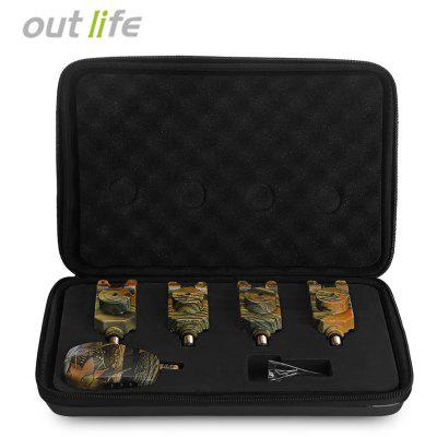 Outlife JY - 35 Camouflage Fishing Bite Alert Set with Receiver