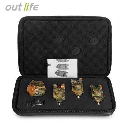 Outlife JY - 35 - 3 Camouflage Fishing Bite Alert Set