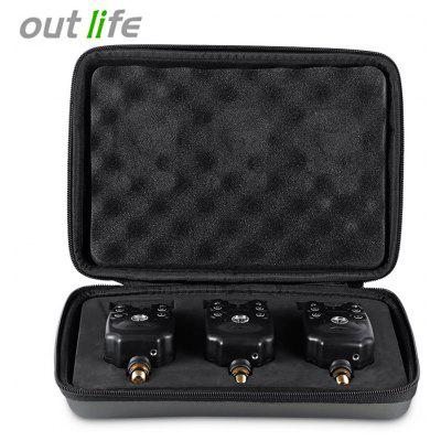 Outlife JY - 1 - 3 3pcs / Box Blue LED Wireless Fish Bite Alert
