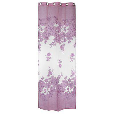 Floral Tulle Burnt-out Curtain