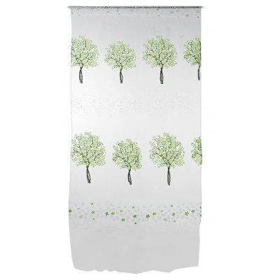 Buy GREEN Sheer Curtain Voile Panel with Tree Pattern for Window for $5.00 in GearBest store