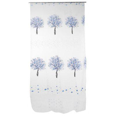 Buy BLUE Sheer Curtain Voile Panel with Tree Pattern for Window for $5.00 in GearBest store