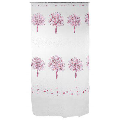 Buy PINK Sheer Curtain Voile Panel with Tree Pattern for Window for $5.00 in GearBest store
