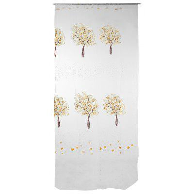 Buy YELLOW Sheer Curtain Voile Panel with Tree Pattern for Window for $5.00 in GearBest store