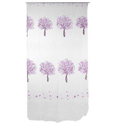 Buy PURPLE Sheer Curtain Voile Panel with Tree Pattern for Window for $5.00 in GearBest store