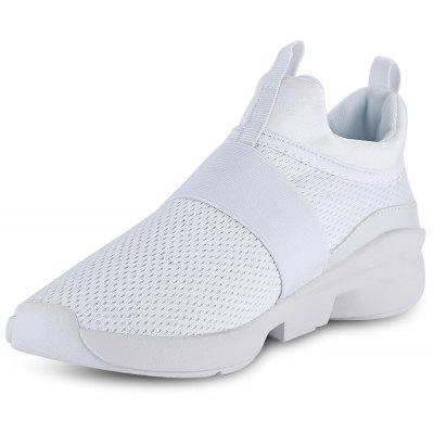 Casual Pointed Toe Mesh Spliced Slip-on Men Shoes