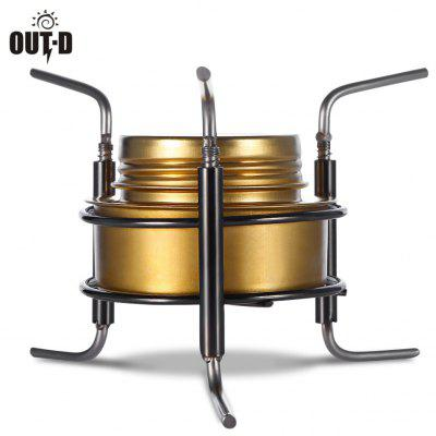 OUT - D Portable Camping Copper Alloy Fogão de estufa