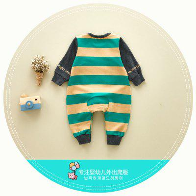 Baby clothing cotton long-sleeved baby Siamese climbing clothes to increase the Korean version of the new cartoon childrens clothingbaby rompers<br>Baby clothing cotton long-sleeved baby Siamese climbing clothes to increase the Korean version of the new cartoon childrens clothing<br><br>Closure Type: Covered Button<br>Collar: Round Neck<br>Gender: Unisex<br>Material: Cotton<br>Package Contents: 1 x Romper<br>Season: Autumn<br>Sleeve Length: Three Quarter<br>Thickness: General<br>Weight: 0.6000kg