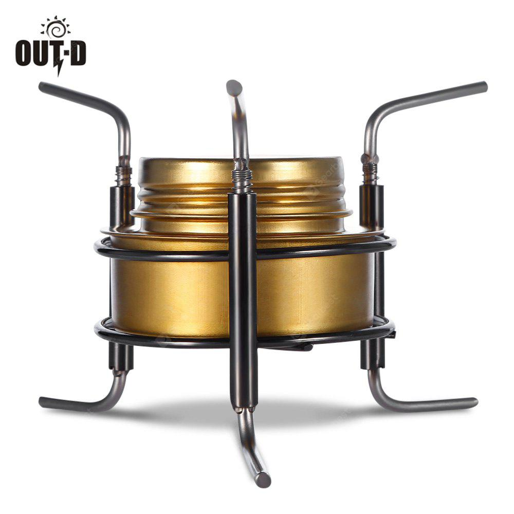 OUT - D Portable Camping Copper Alloy Alcohol Stove Burner
