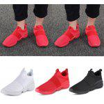Casual Pointed Toe Mesh Spliced Slip-on Men Shoes - WHITE