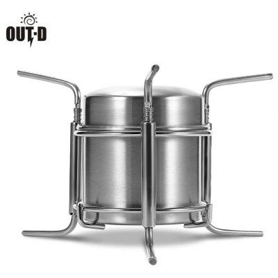 OUT - D Portable Camping Stainless Steel Alcohol Stove Burner