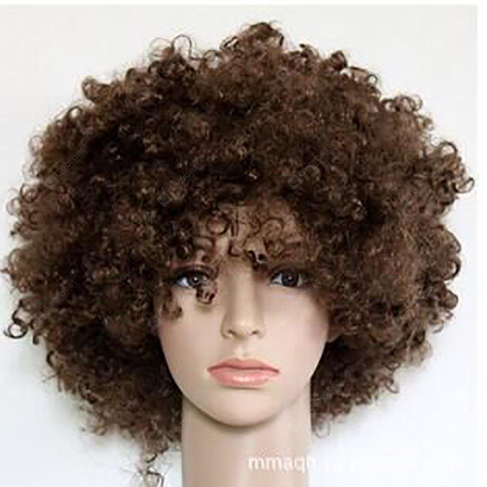 Buy Curly Afro Wigs Party Clown Funky Disco Fancy Dress 8INCH BROWN