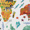 Cartoon Background Colorful World Map Wall Stickers - COLORMIX