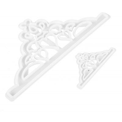 2pcs Imperial Crown Shape Fondant Cake Embossing Mold