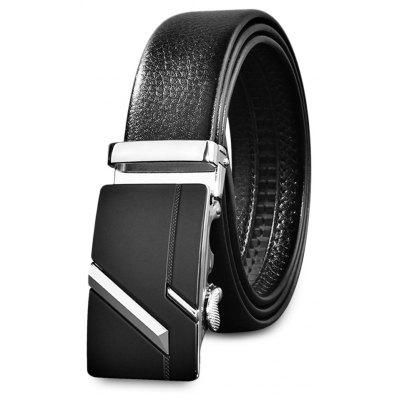 Business Fashion Men Automatic Alloy Buckle Leather Belt