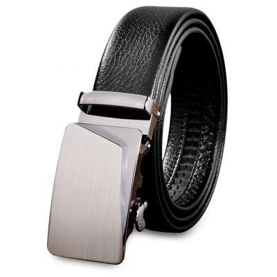 Male Casual Automatic Alloy Buckle Girdle Leather Belt Strap