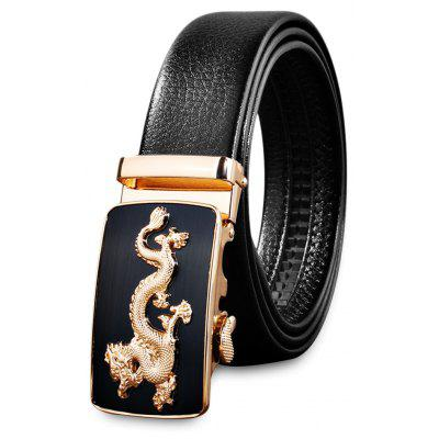 Men Business Automatic Buckle Leather Belt Buckle Pants Strap
