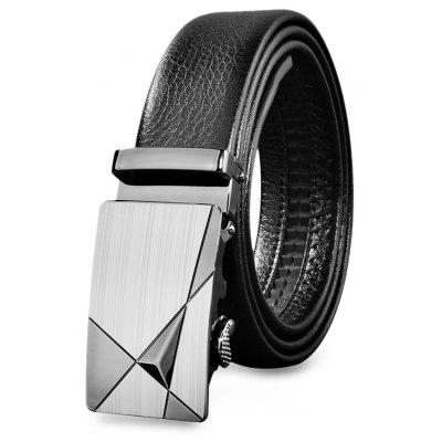 Men Luxury Waist Strap Leather Automatic Buckle Belts