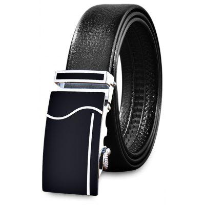 Automatic Buckle PU Leather Men Waist Belt