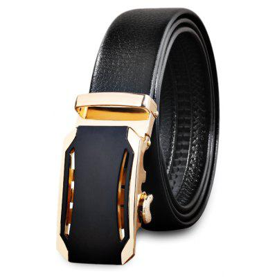 Automatic Alloy Buckle PU Men Waist Belt