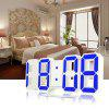 3D LED Digital Alarm Clocks - WHITE