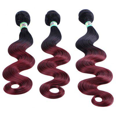 Long Gradient Body Weave Synthetic Women Hair Extension