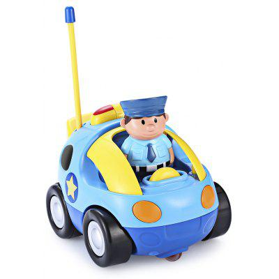 Cartoon Police / Racing Car Radio Remote Control Music Electric Toy Kid Children Gift