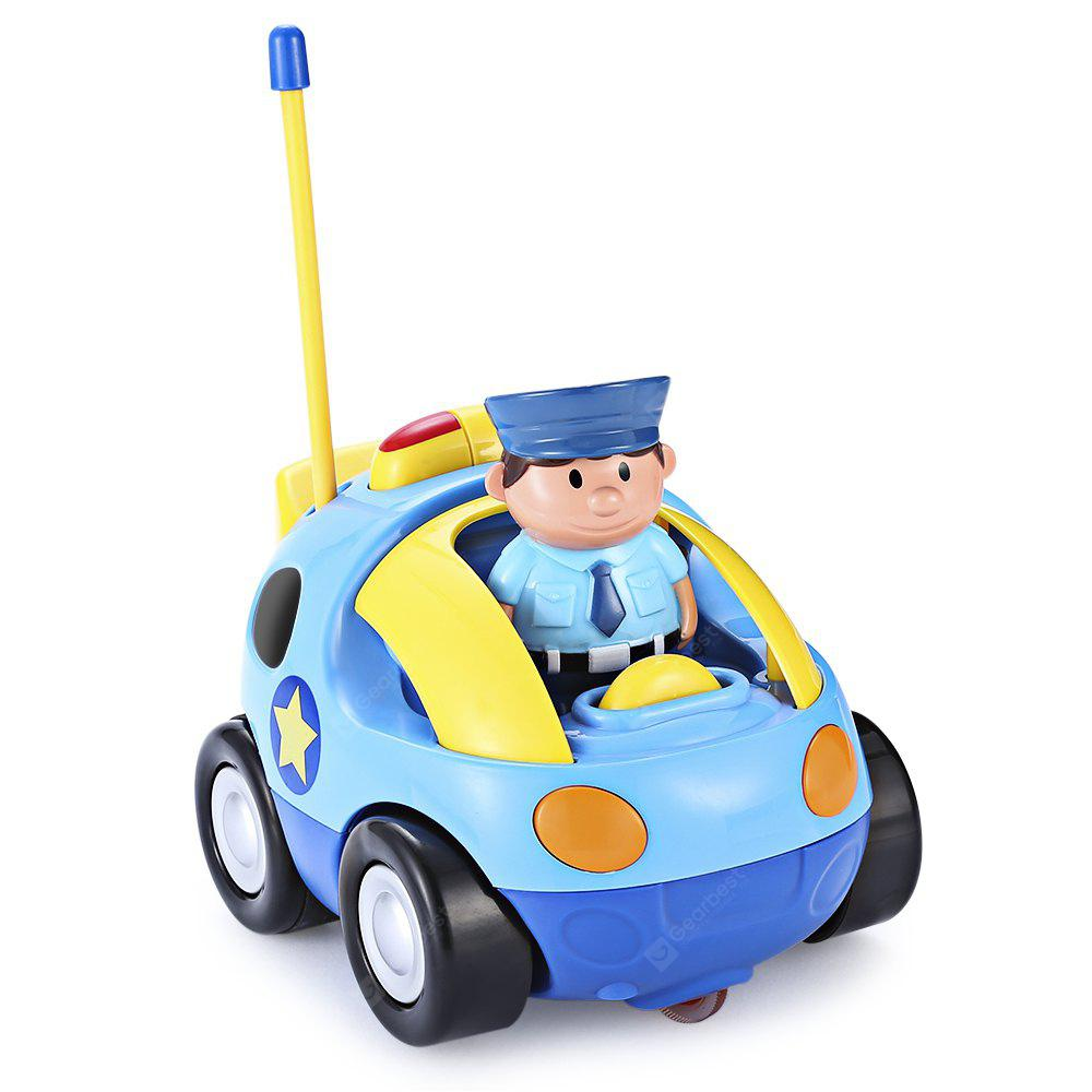 Cartoon Police / Racing Car Remote Control Music Electric Toy