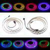 1m 60 LEDs RGB Multicolor Dimmable Flat LED Strip Light - BLACK